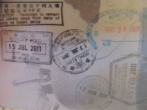 Addicted to passport stamps
