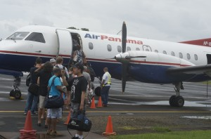 Flying from Bocas Del Toro