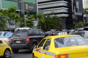 Taxi drivers in Panama City